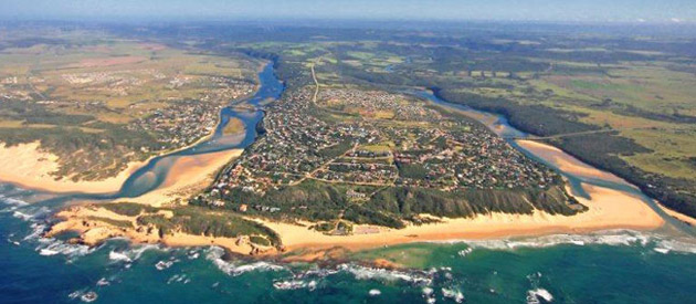 Kenton-on-Sea, in the Eastern Cape province of South Africa